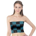SQUARE1 BLACK MARBLE & TEAL LEATHER Tube Top