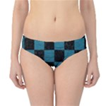 SQUARE1 BLACK MARBLE & TEAL LEATHER Hipster Bikini Bottoms