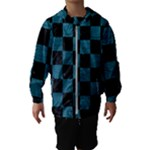 SQUARE1 BLACK MARBLE & TEAL LEATHER Hooded Wind Breaker (Kids)