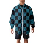 SQUARE1 BLACK MARBLE & TEAL LEATHER Wind Breaker (Kids)