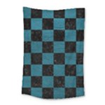 SQUARE1 BLACK MARBLE & TEAL LEATHER Small Tapestry