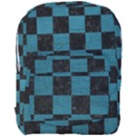 SQUARE1 BLACK MARBLE & TEAL LEATHER Full Print Backpack
