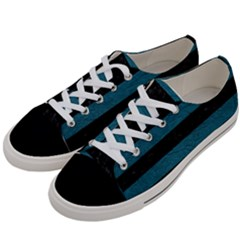 Stripes2 Black Marble & Teal Leather Women s Low Top Canvas Sneakers by trendistuff