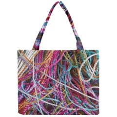 Funny Colorful Yarn Pattern Mini Tote Bag by yoursparklingshop