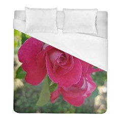 Romantic Red Rose Photography Duvet Cover (full/ Double Size) by yoursparklingshop