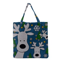 Cute Reindeer  Grocery Tote Bag by Valentinaart