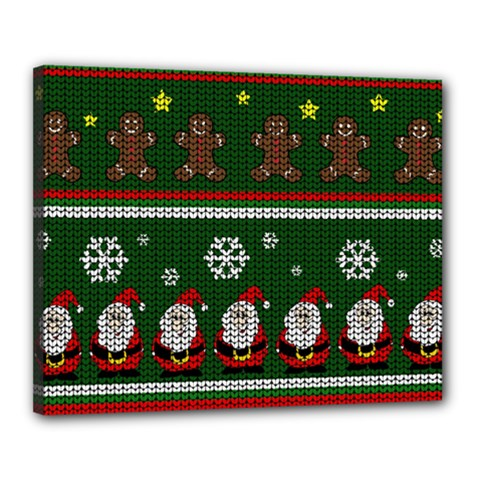 Ugly Christmas Sweater Canvas 20  X 16  by Valentinaart