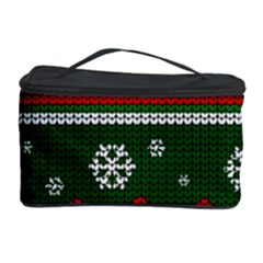 Ugly Christmas Sweater Cosmetic Storage Case by Valentinaart