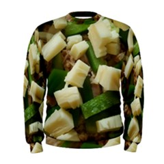 Cheese And Peppers Green Yellow Funny Design Men s Sweatshirt by yoursparklingshop