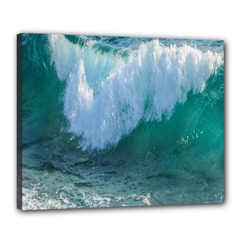 Awesome Wave Ocean Photography Canvas 20  X 16  by yoursparklingshop