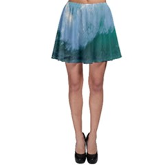 Awesome Wave Ocean Photography Skater Skirt by yoursparklingshop