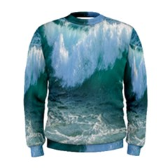 Awesome Wave Ocean Photography Men s Sweatshirt by yoursparklingshop