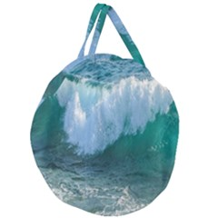 Awesome Wave Ocean Photography Giant Round Zipper Tote by yoursparklingshop