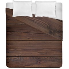 Rustic Dark Brown Wood Wooden Fence Background Elegant Duvet Cover Double Side (california King Size) by yoursparklingshop