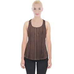 Rustic Dark Brown Wood Wooden Fence Background Elegant Natural Country Style Piece Up Tank Top by yoursparklingshop