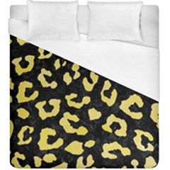 Skin5 Black Marble & Yellow Watercolor Duvet Cover (king Size) by trendistuff