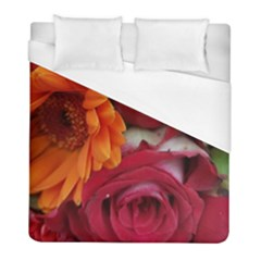 Floral Photography Orange Red Rose Daisy Elegant Flowers Bouquet Duvet Cover (full/ Double Size) by yoursparklingshop