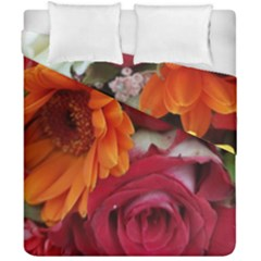 Floral Photography Orange Red Rose Daisy Elegant Flowers Bouquet Duvet Cover Double Side (california King Size) by yoursparklingshop