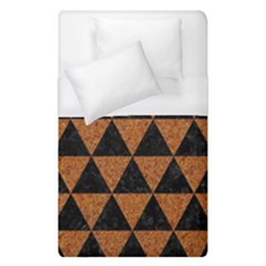 Triangle3 Black Marble & Teal Leather Duvet Cover (single Size) by trendistuff