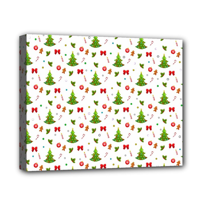 Christmas pattern Canvas 10  x 8