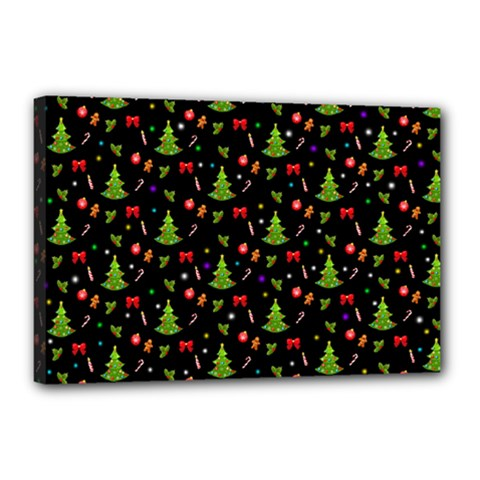 Christmas Pattern Canvas 18  X 12  by Valentinaart