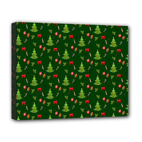 Christmas Pattern Deluxe Canvas 20  X 16   by Valentinaart