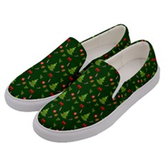 Christmas Pattern Men s Canvas Slip Ons by Valentinaart