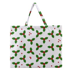 Christmas Pattern Zipper Large Tote Bag by Valentinaart