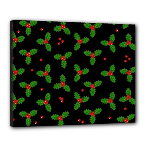 Christmas Pattern Canvas 20  X 16  by Valentinaart