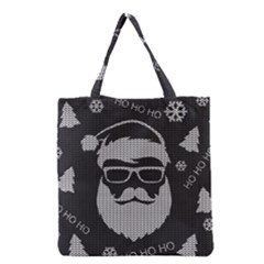 Ugly Christmas Sweater Grocery Tote Bag by Valentinaart