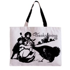Vintage Thanksgiving Zipper Mini Tote Bag by Valentinaart