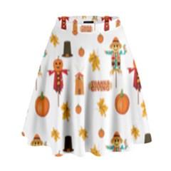 Thanksgiving High Waist Skirt by Valentinaart