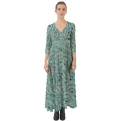 Design Art Wesley Fontes Button Up Boho Maxi Dress