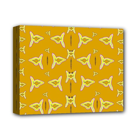 Fishes Talking About Love And   Yellow Stuff Deluxe Canvas 14  X 11  by pepitasart