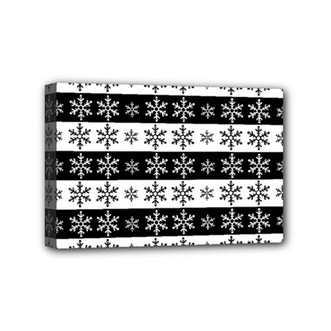 Snowflakes   Christmas Pattern Mini Canvas 6  X 4  by Valentinaart