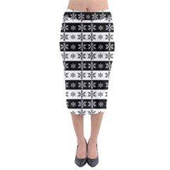 Snowflakes   Christmas Pattern Midi Pencil Skirt by Valentinaart