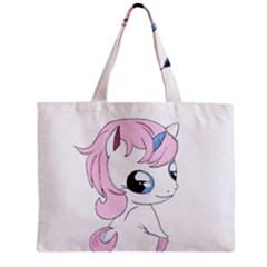 Baby Unicorn Zipper Mini Tote Bag by Valentinaart