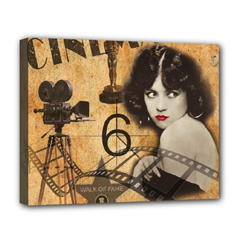 Vintage Cinema Deluxe Canvas 20  X 16   by Valentinaart