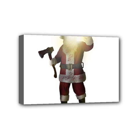 Santa Killer Mini Canvas 6  X 4  by Valentinaart