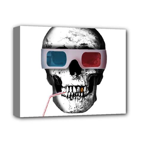 Cinema Skull Deluxe Canvas 14  X 11  by Valentinaart