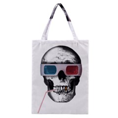 Cinema Skull Classic Tote Bag by Valentinaart