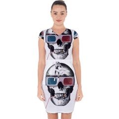 Cinema Skull Capsleeve Drawstring Dress