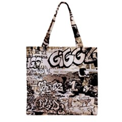 Graffiti Zipper Grocery Tote Bag by Valentinaart