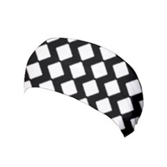 Abstract Tile Pattern Black White Triangle Plaid Yoga Headband
