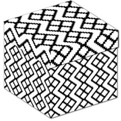Abstract Tile Pattern Black White Triangle Plaid Chevron Storage Stool 12   by Alisyart