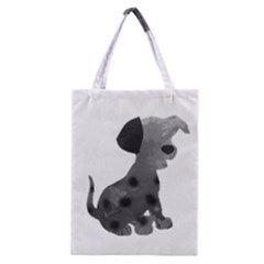Dalmatian Inspired Silhouette Classic Tote Bag by InspiredShadows