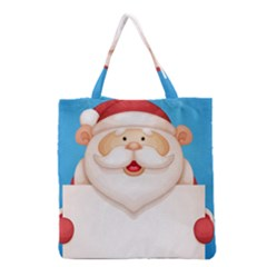Christmas Santa Claus Letter Grocery Tote Bag by Alisyart