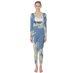 Nature Pattern Long Sleeve Catsuit