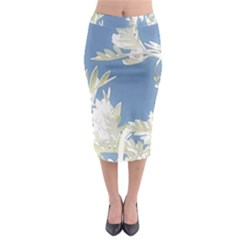 Nature Pattern Midi Pencil Skirt by dflcprintsclothing
