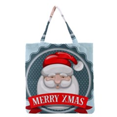 Christmas Santa Claus Xmas Grocery Tote Bag by Alisyart